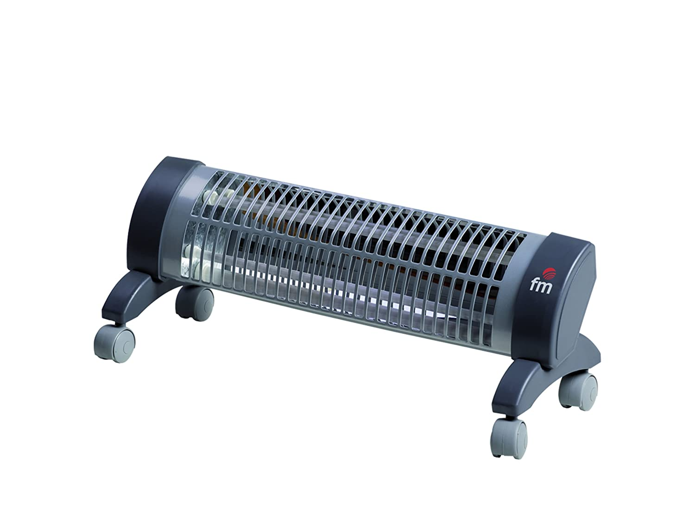 FM Calefacción 2302-R - Calefactor (230 V, 50 Hz, 1200 W) Negro, Gris: Amazon.es: Hogar