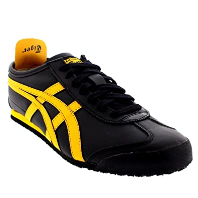 online retailer b91e7 5fb6a Onitsuka Tiger Mens Mexico 66 Low Top Leather Black Sport ...
