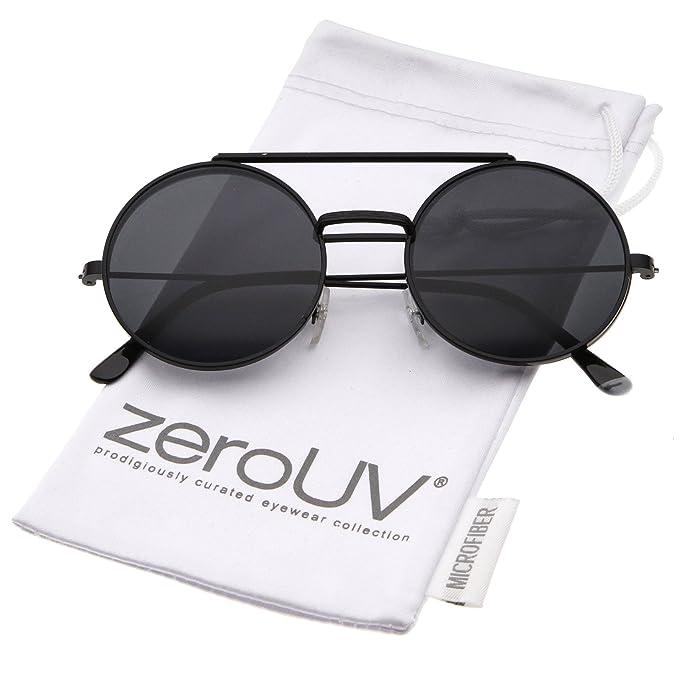 6287909e82d Mid Size Flip-Up Neutral-Colored Lens Round Django Sunglasses 49mm (Black