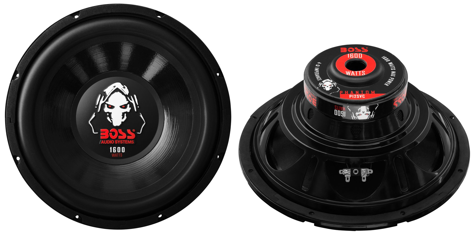 2) Boss P12SVC 12'' 3200W Car Audio Power Subwoofer Sub Woofer Stereo SVC 4 Ohm