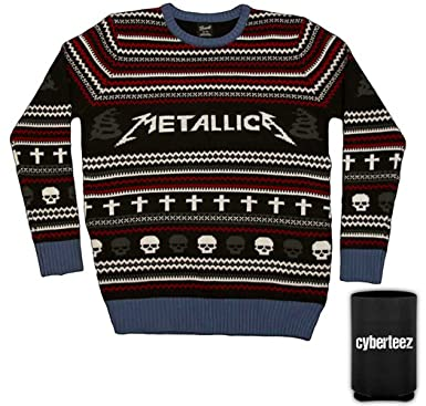 metallica logo ugly christmas sweater mens limited edition sweatshirt coolie - Metallica Christmas Songs