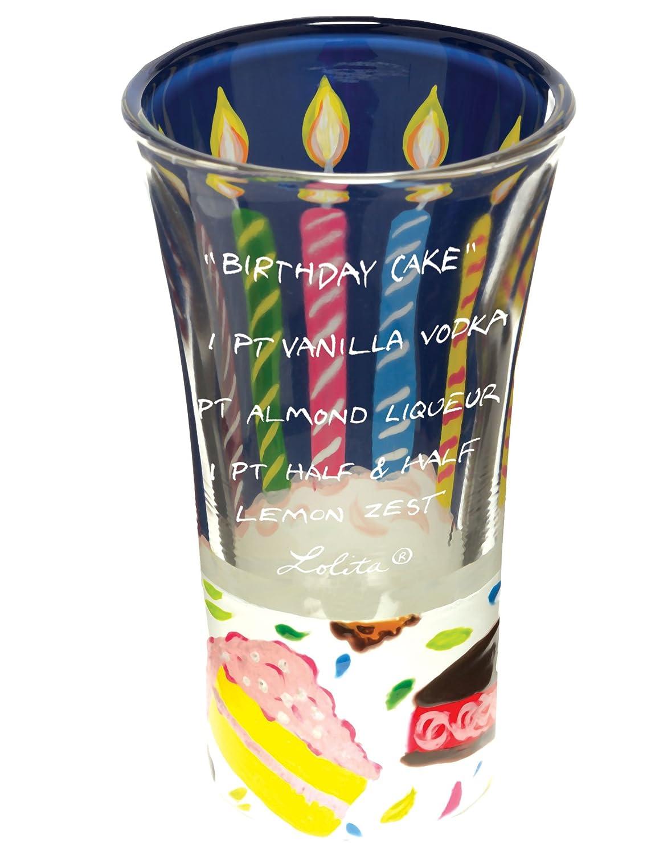 Lolita Hand Painted Shooter Glass Birthday Cake