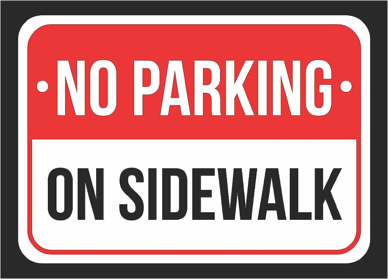 - Amazon.com : No Parking On Sidewalk Print Red, White And Black
