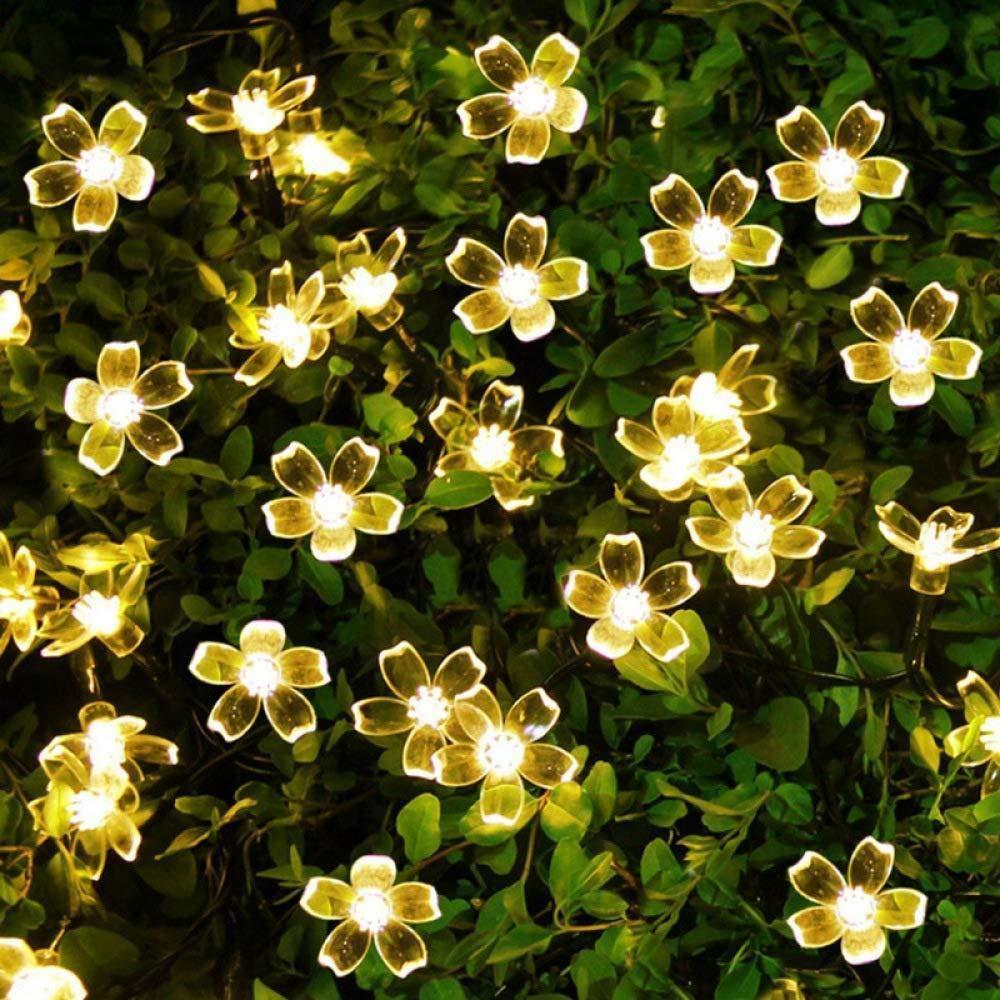 7m 50 Luz Solar Flor De Cerezo De La L/ámpara Led String Cadena De La L/ámpara a Prueba De Agua Al Aire Libre Patio De Boda Luz Decoraci/ón De Navidad Flor De Durazno De Luz En Color