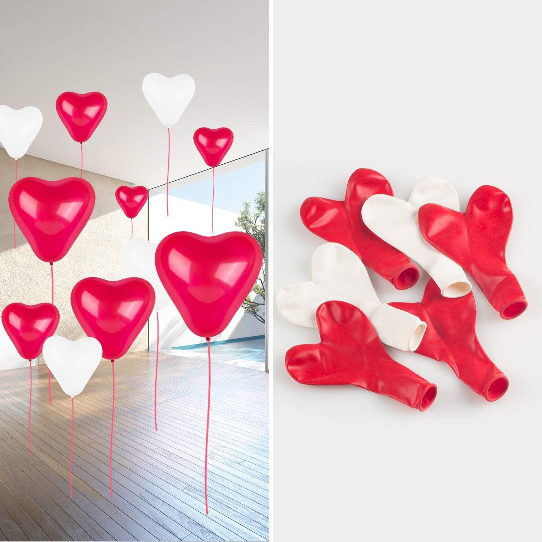 Loisirs Créatifs Ballon Coeur Pour Mariage Anniversaire Saint Valentin Fête Décoration Ballon Helium Coeur Formizon 60pcs Ballon En Forme Coeur Rouge Blanc Déco Mariage Cuisine Maison Dwe Cl