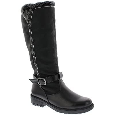 Boston Accent Women's Patty Snow Boots, Black | Rubber Ankle Wide Calf Fit Boots for Women | Snow Boots