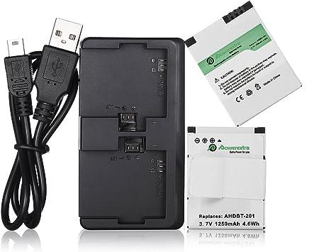 Kastar Batería Cargador LCD para AHDBT 301 AHDBT 302 GoPro HD Hero 3 Negra Edición