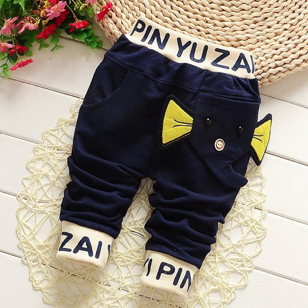 ARAUS-Pantalon B/éb/é Enfant de Dessin Anim/é Mignon Petit Pantalon dEl/éphant 1-5 Ans