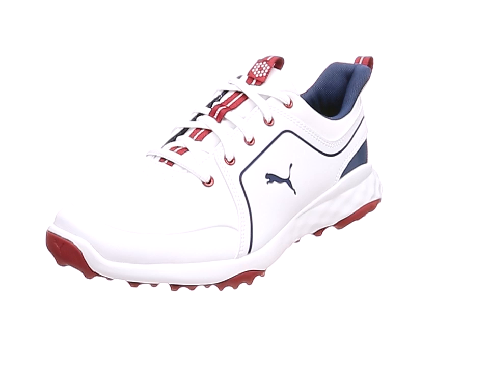 [プーマ ゴルフ] ゴルフシューズ グリップフュージョン 2.0 メンズ プーマホワイト/ピーコート 27 cm 3E