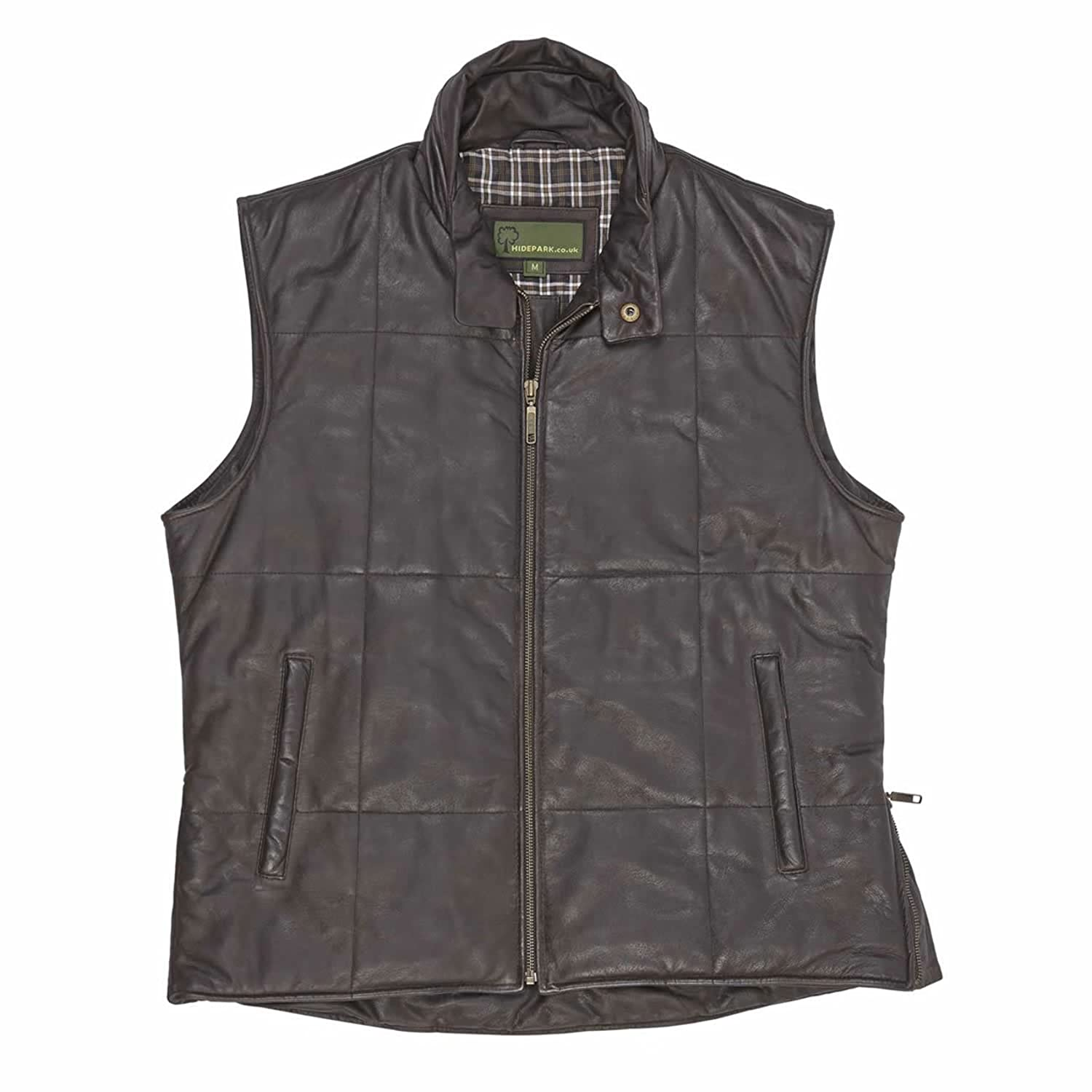 009 : Leather Body Warmer Brown