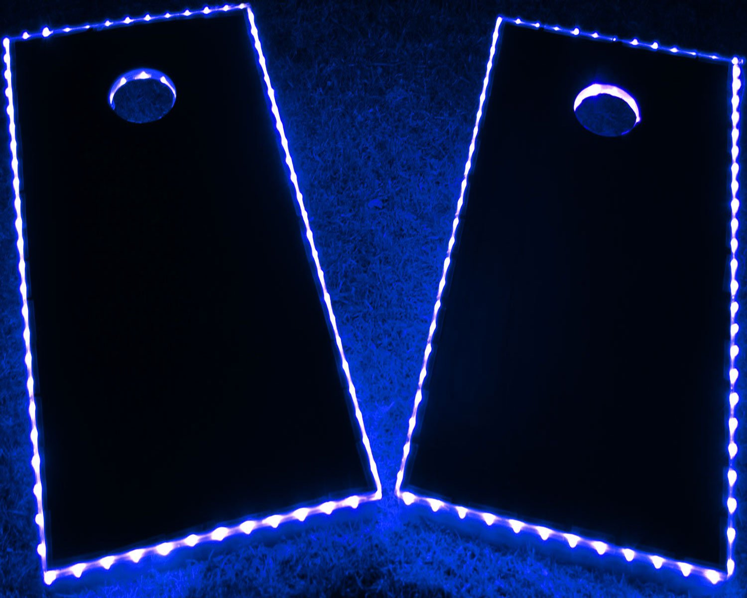 GlowCity LED Cornhole Board Lights - Ultra Bright Lights for Corn Hole and Board, Fits 2 x Boards - Waterproof and Durable Cable Ideal for Family Outdoor Games or Backyard Glow in The Dark Fun (Blue) by GlowCity