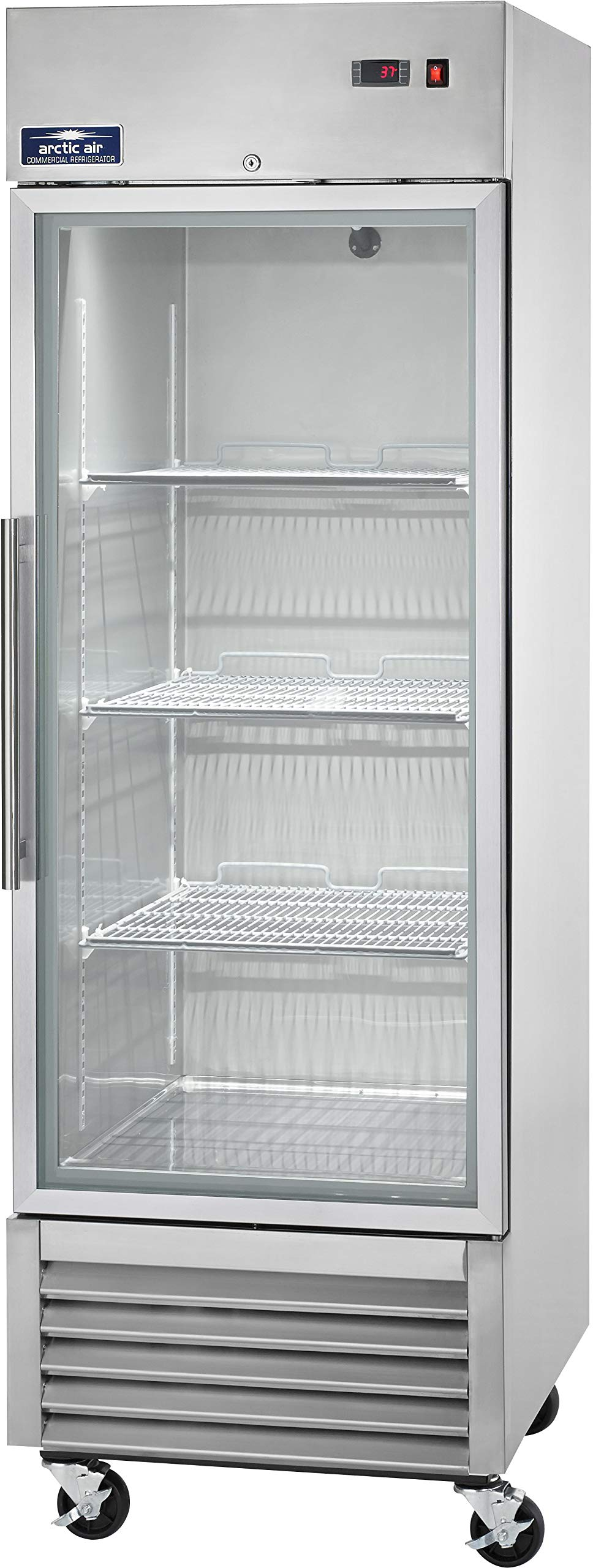 Arctic Air AGR23 27'' One Section Glass Door Reach-in Refrigerator - 23 cu. ft. by Arctic Air