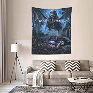 WUSA15UF Avenged Sevenfold Nightmare Tapestry Wall Bedroom Hanging Tapestry for Dorm Bedroom Art Tapestry Decorative Home Decor (60 X 51 Inches)