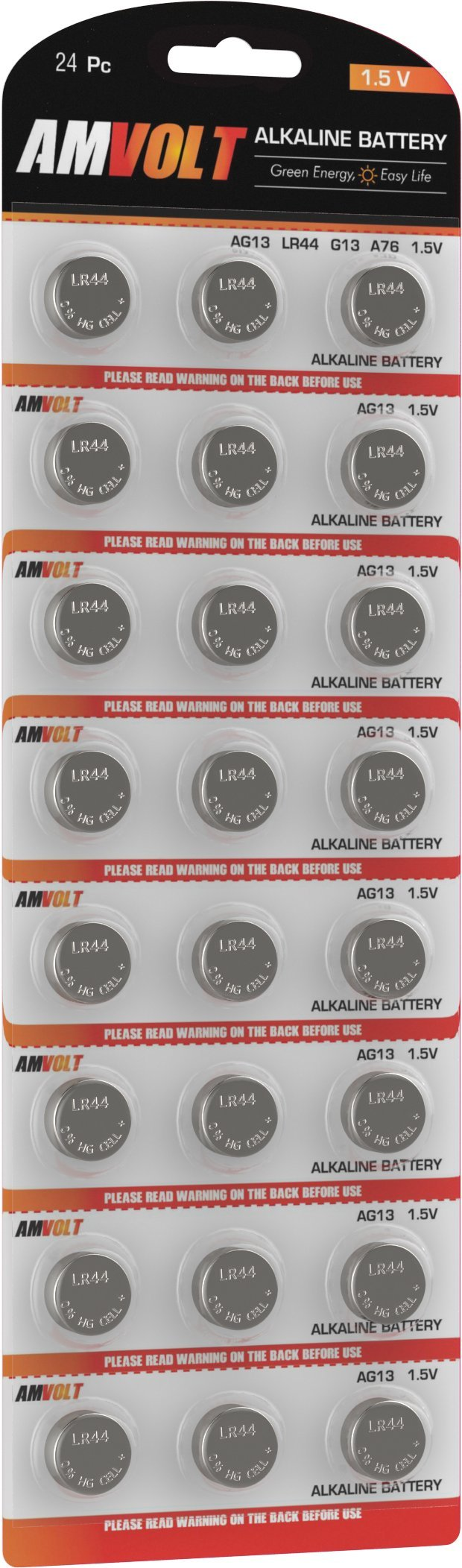 24 Pack LR44 AG13 Battery - [Ultra Power] Premium Alkaline 1.5 Volt Non Rechargeable Round Button Cell Batteries for Watches Clocks Remotes Games Controllers Toys & Electronic Devices - 2020 Exp Date