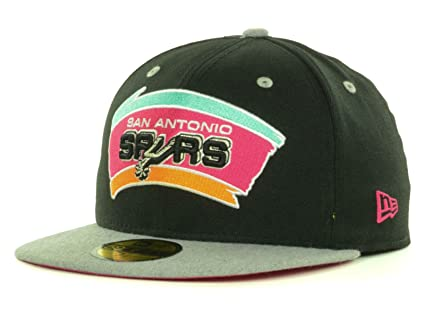 newest collection 83729 fe712 ... official san antonio spurs nba new era hardwood classic 59fifty fitted  heather grey black cap hat