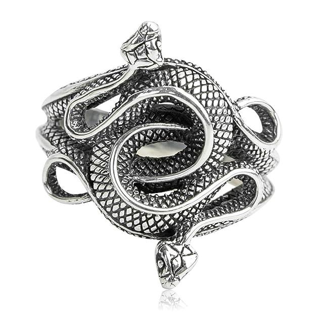 Anillos de serpiente para hombre