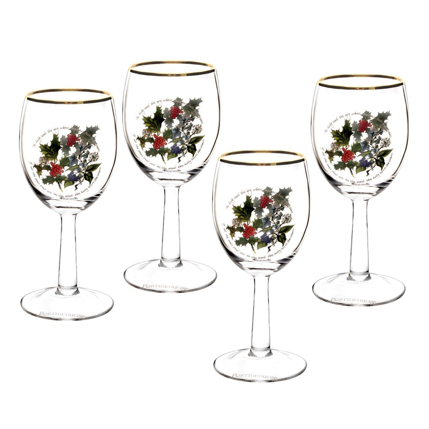 Holly and ivy holiday glassware by portmeirion for Holiday stemware
