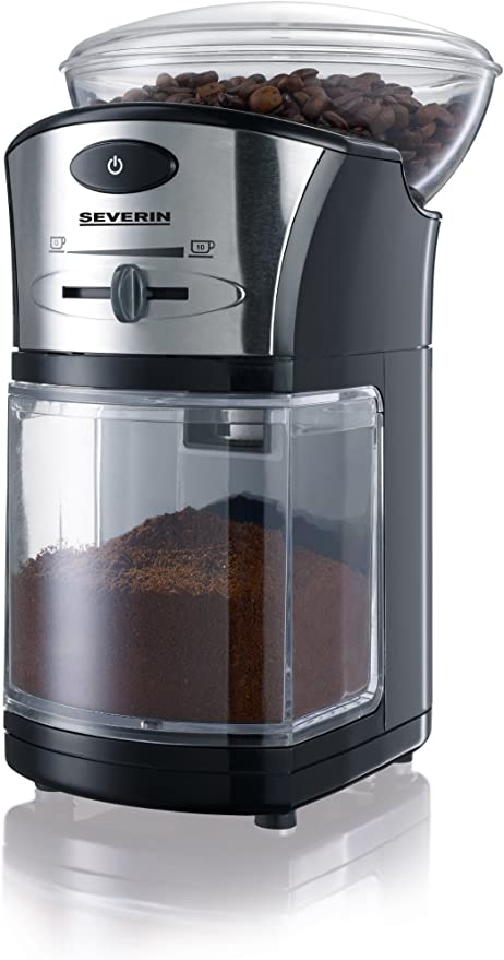 Severin S73874 Coffee Grinder With 100 W Of Power Km 3874 Black Silver