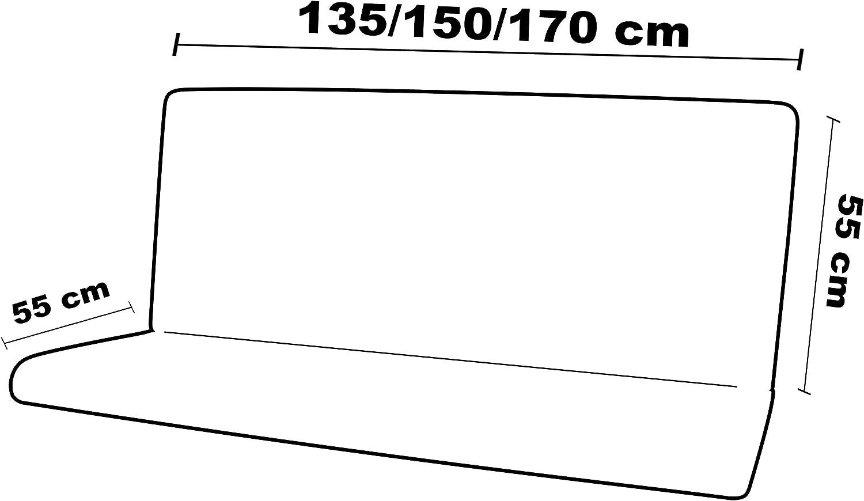 3 Posti Unito Blu Maratex Completo Altalena Seduta Schienale e Cappottina MOD 135, 55