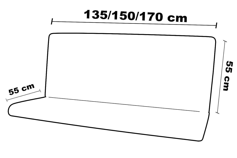 Maratex Completo Altalena Seduta Schienale e Cappottina MOD 135, 55 3 Posti Righe