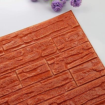 JiaMeng Pegatina de Pared, DIY 3D ladrillo PE Espuma Wallpaper Panels Room Decal Stone decoración