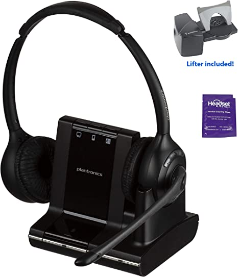 Amazon Com Plantronics Savi W720 Wireless Headset System Bundled With Lifter And Headset Advisor Wipe Renewed Electronics
