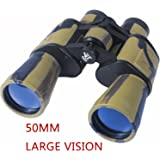AUGYMER 50mm Binoculars for Adults, HD BAK4 Binoculars for Hunting Bird Watching Wide Angle Fog-proof HD BAK4 Large Eyepiece High Power Binocular for Hunting Camping with Case(8 Times)