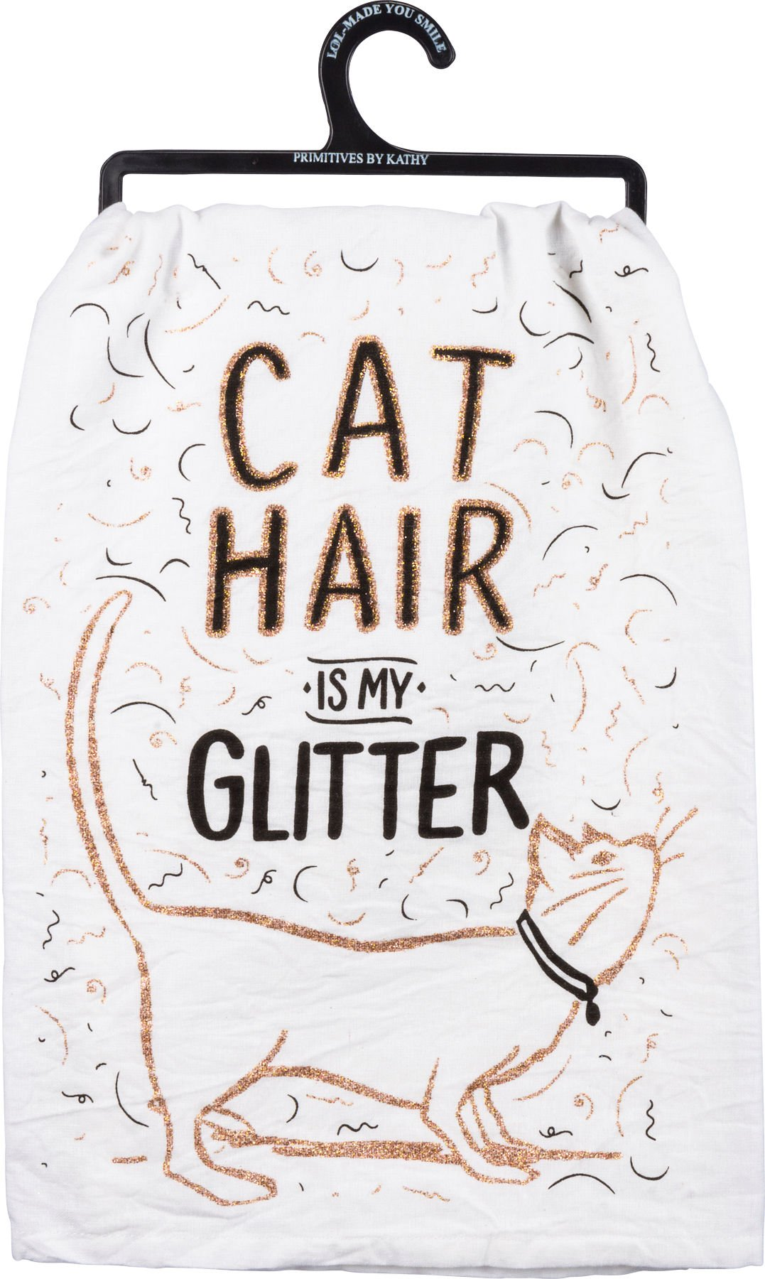 Primitives by Kathy Glitter Kitchen Towel - Cat Hair Is My Glitter by Primitives by Kathy