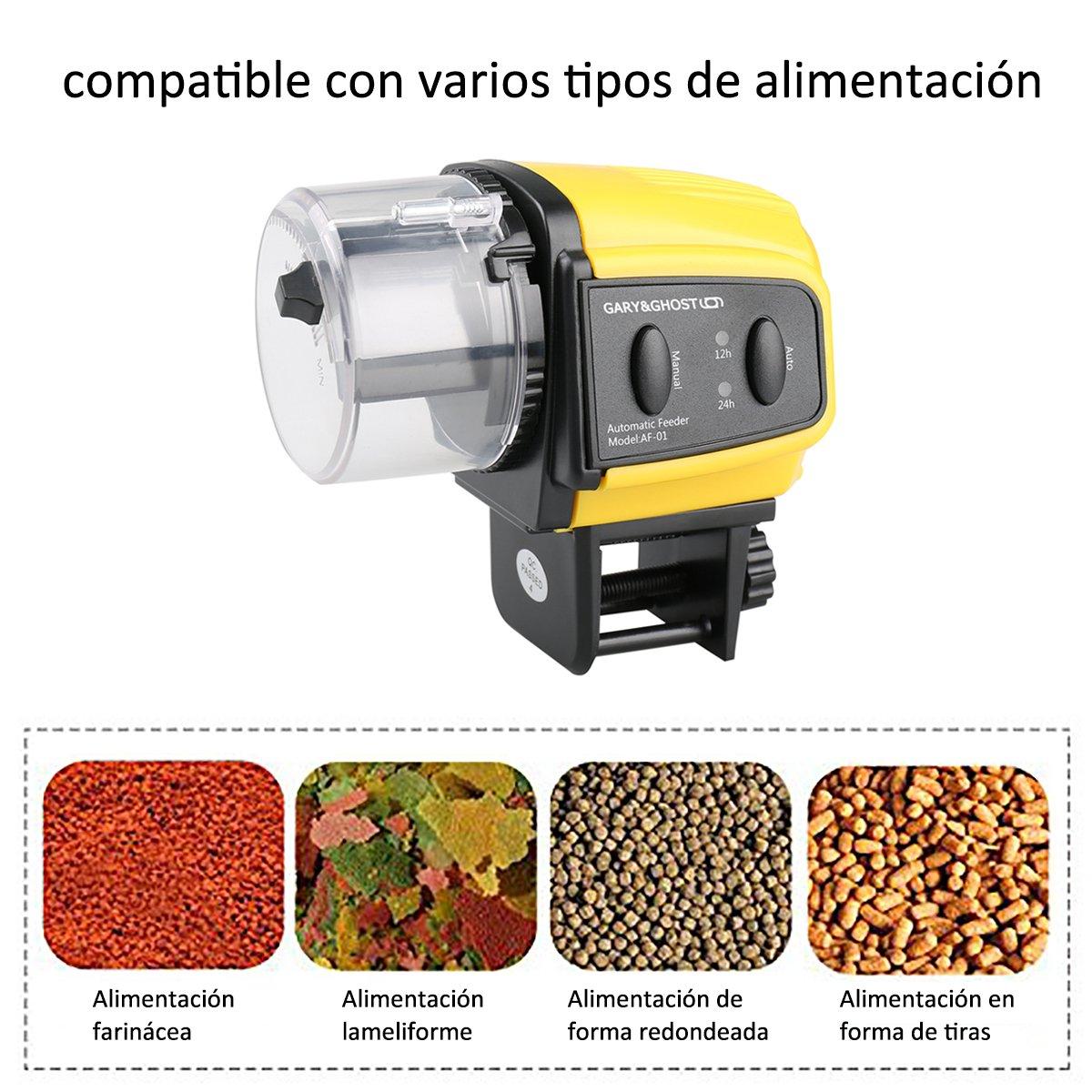 Alimentador Peces Automático Comedero Temporizador Mascotas Acuáticas Acuario Pecera Viene con 1 hoja de Instruciones en Castellano: Amazon.es: Productos ...