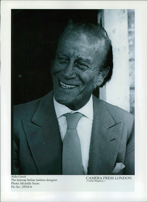 Amazon Com Vintage Photo Of Aldo Gucci The Famous Italian Fashion Designer Entertainment Collectibles