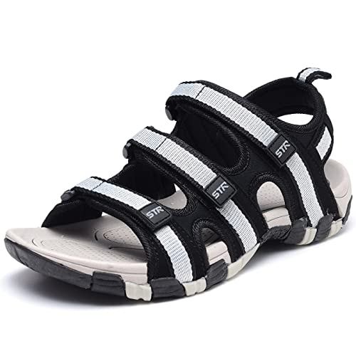 0482417195b0a9 Odema Mens Summer Shoes Size Plus Open Toe Strap Outdoor Beach Sandals Gray