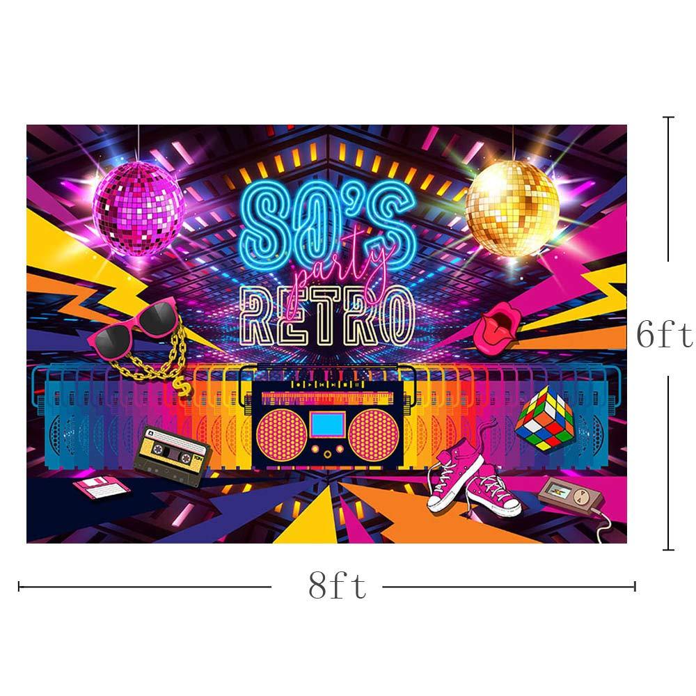 Mehofoto fondali fotografia hip hop 80/da 90/da festa a tema decorazione foto Bacground 2,1/x 1,5/m 7x5ft Disco