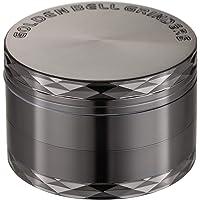 LIHAO 1 x Grinder Pollen Crusher Nikkel-Zwart 4-delige set kruidenmolen zinklegering voor specerijen, kruiden…