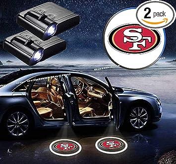 2pcs SAN FRANCISCO 49ERS WIRELESS WELCOME LED CAR DOOR LOGO PROJECTORS LIGHTS