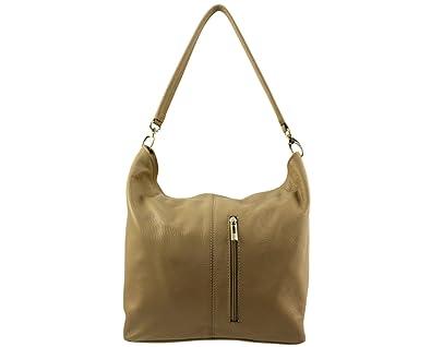 Addieren Beige Woman Even Leather Handtasche Beutel Chloly w4xfY8qt