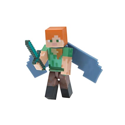 Minecraft Alex With Elytra Wings Figure Pack