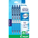 Pilot B2P - Bottle to Pen - Retractable Ball Point Pens Made from Recycled Bottles, 4 Pen Pack, Medium Point, Blue (32810)