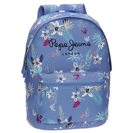 Pepe Jeans 65223A1 Mireia Mochila Escolar, 42 cm, 22.79 litros, Azul ...