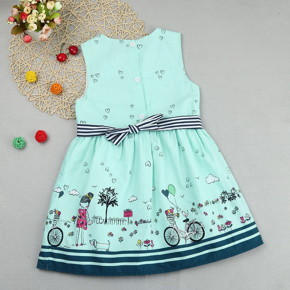 018ff4850033 Amazon.com  Girls Dresses Yamally Baby Kids Cartoon Cotton Dress Sleeveless  Summer Dress Casual Dress for Toddler  Clothing