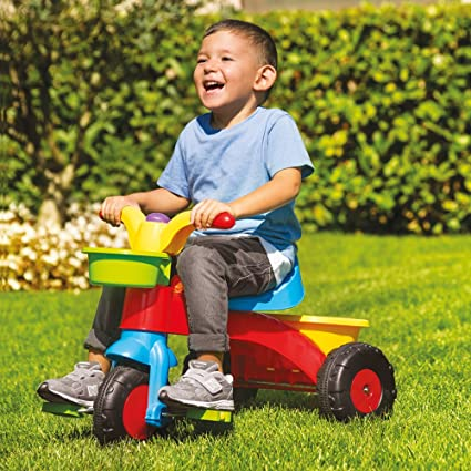 c06ecfe9303 Speelgoed My First Ride Trike Kids Childrens Multi-Coloured Outdoor Pedal  Bike with Horn