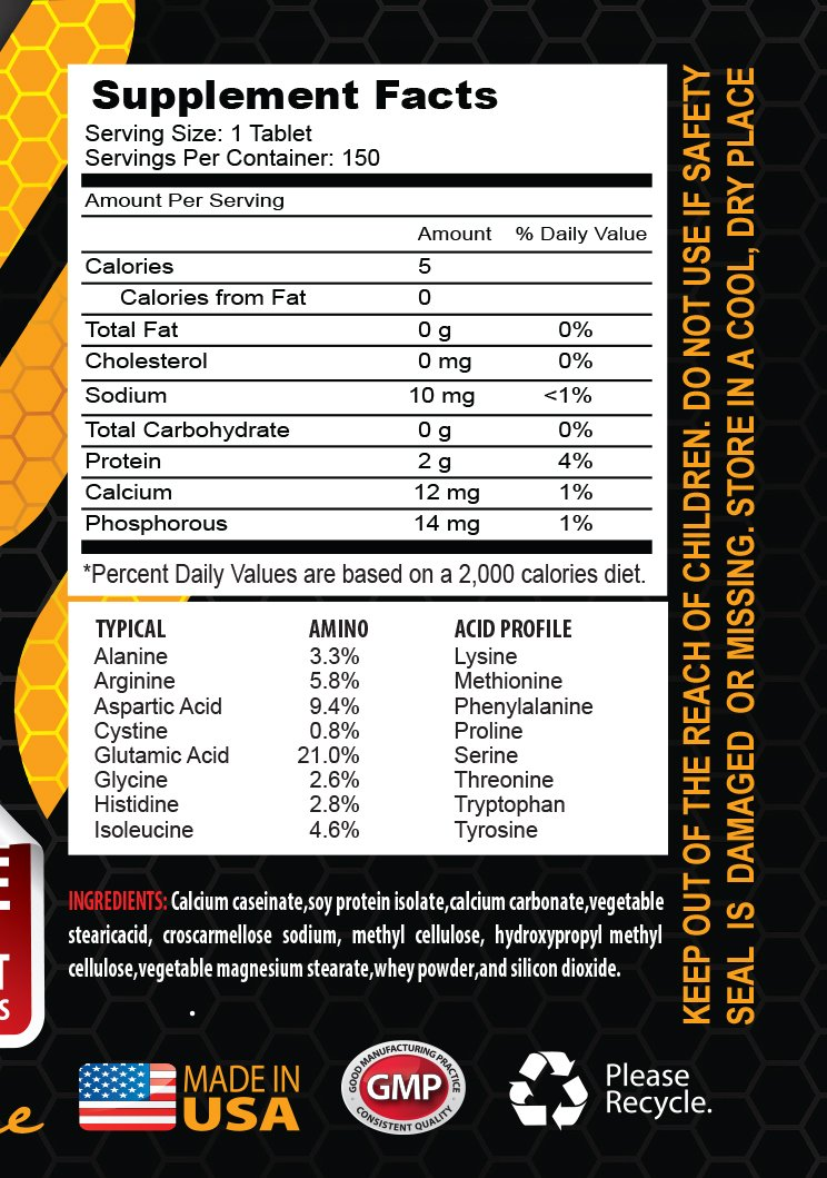 Muscle Mass Formula - Amino Acids 2200 mg Complex - Maximum Strength - l-Alanine Capsules - 3 Bottles 450 Tablets by HS PRIME (Image #2)