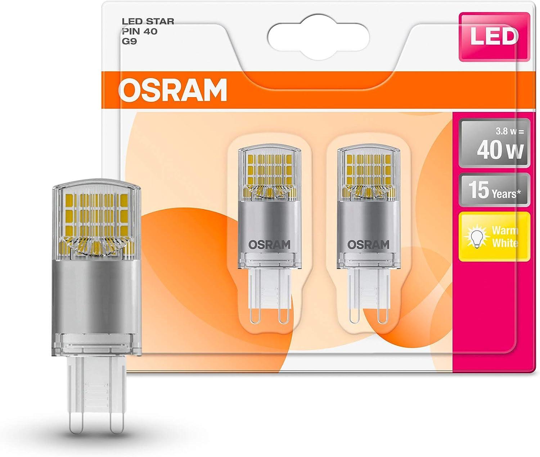 Osram LED Star Pin G9/lámpara LED: G9, 3,80 W, de 40 W de repuesto ...