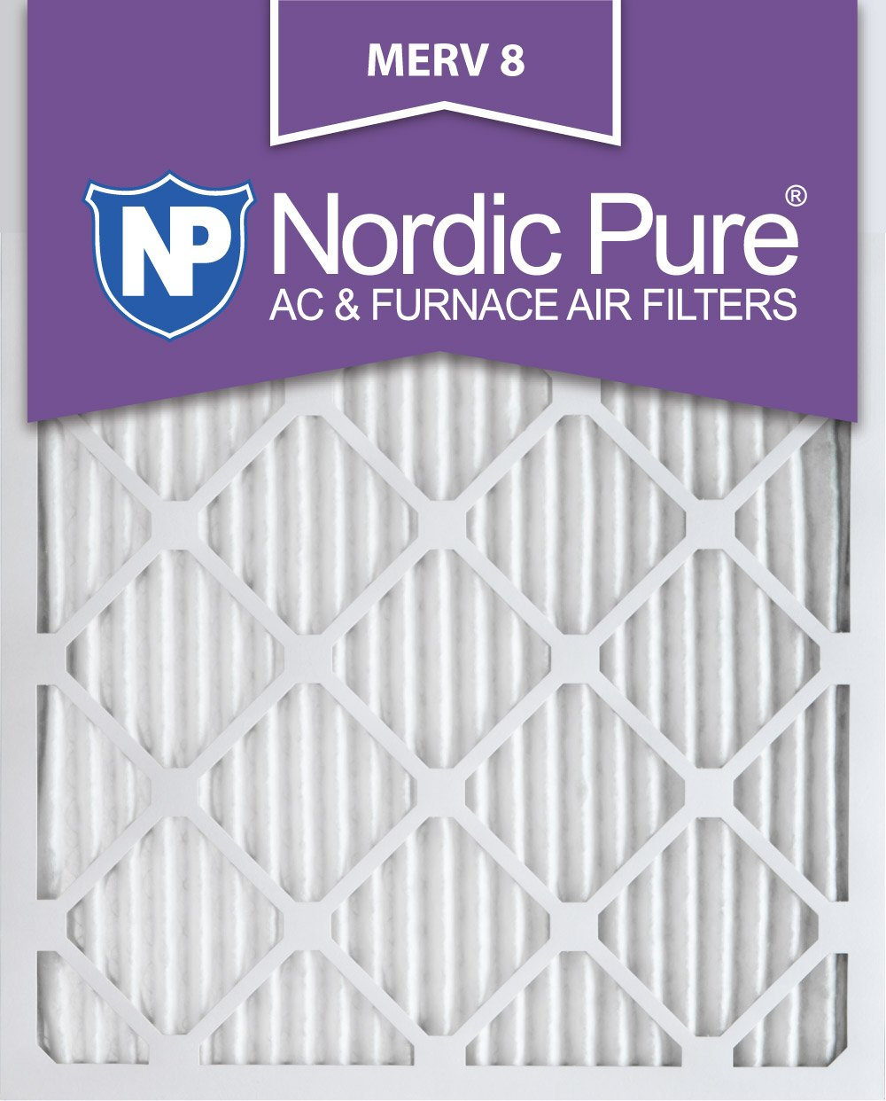 $72.31 (was $149.99) Nordic Pure 16x25x1M8-12 MERV 8 Pleated AC Furnace Air Filter, 16x25x1, Box of 12
