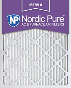Nordic Pure 16x20x1 MERV 8 Pleated AC Furnace Air Filters 16x20x1M8-6 6 Pack