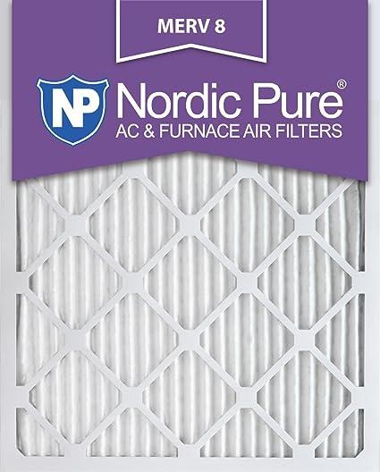 nordic pure 18x20x1m8-6 merv 8 pleated ac furnace air filter ...