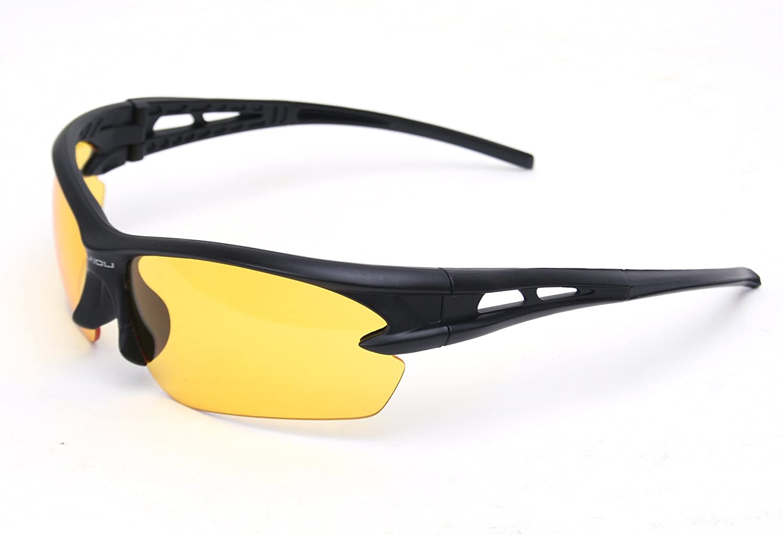 K-Martins Polarized Sports Sunglasses for Men Women Baseball Running Cycling Fishing