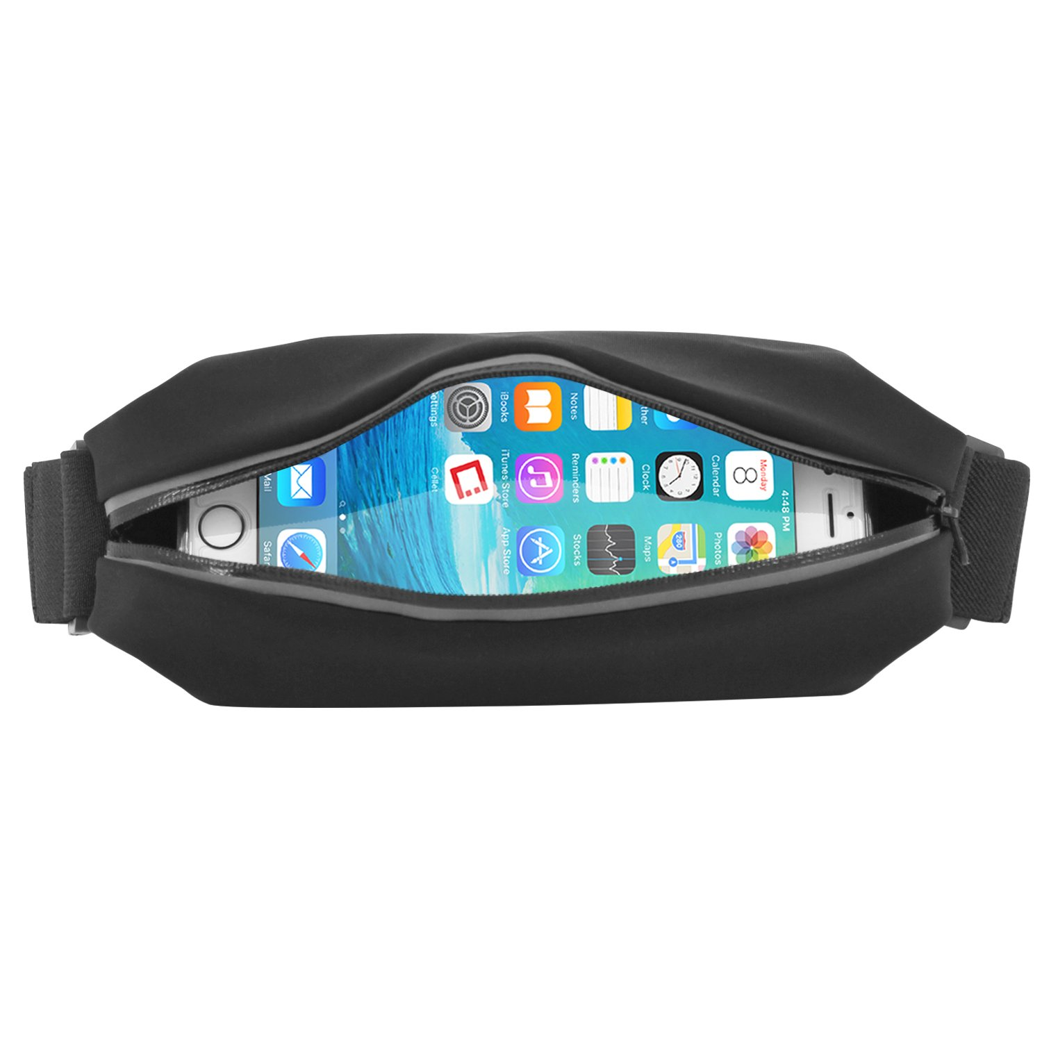 Cellet Cellphone Sweat Resistant Sports Armband, Storage Belt Armband Case for iPhone 6s, 6 Plus, 7, 7 Plus, 8, 8 Plus, X, Samsung S7, S8 Edge, Note 4, 5, 7, 8 and Other Smartphones by Cellet (Image #6)