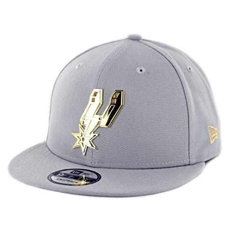 2e7fb30a7 Amazon.com : New Era 950 San Antonio Spurs Metal Framed Snapback Hat ...