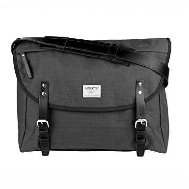 77a5a4610672 Amazon.com | Sandqvist Erik Messenger Bag - Dark Grey | Luggage ...