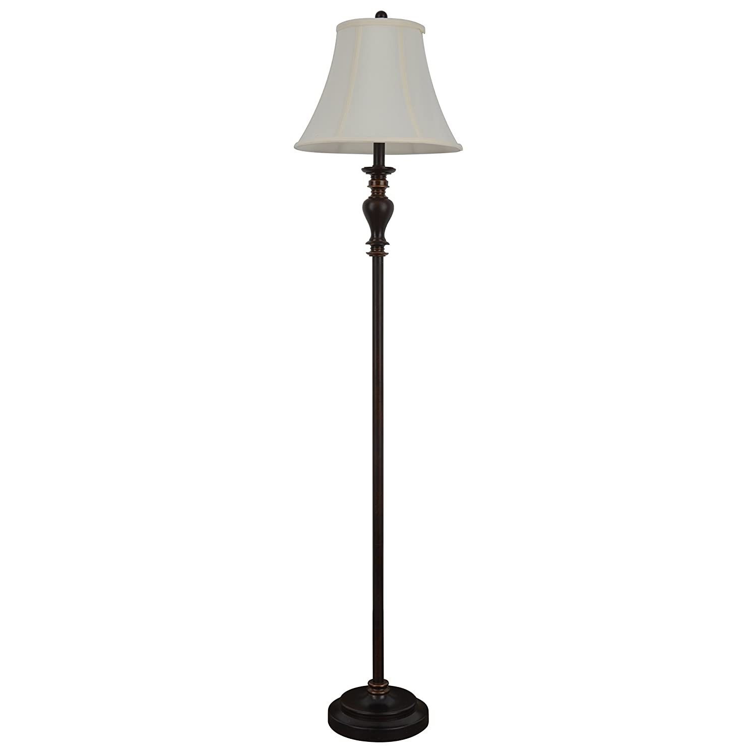 "Décor Therapy PL1644 61.5"" Walnut Ridge Brass Floor Lamp"